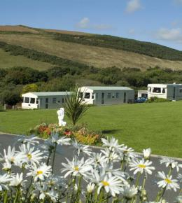 Holiday Caravans in the Cornish Countryside