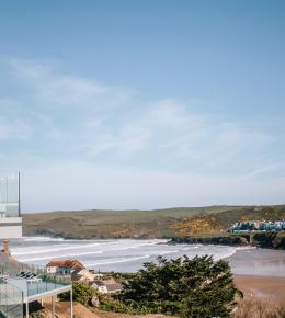 View from Weaver's View a self-catering holiday home in Polzeath, North Cornwall by Latitude50