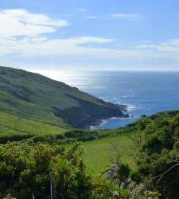The South West Coastal Path at Porthmeor Farm