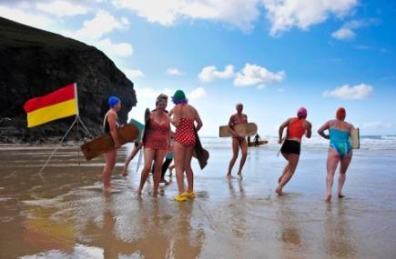 World Bellyboarding Championships, St Agnes, Cornwall - Photo courtesy of National Trust
