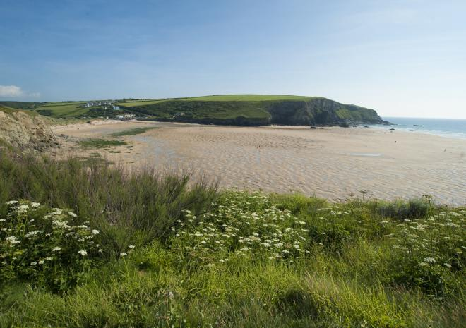Mawgan Porth beach, North Cornwall