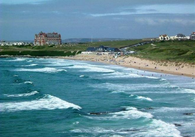 This is your uninterupted view over Fistral Beach in Newquay