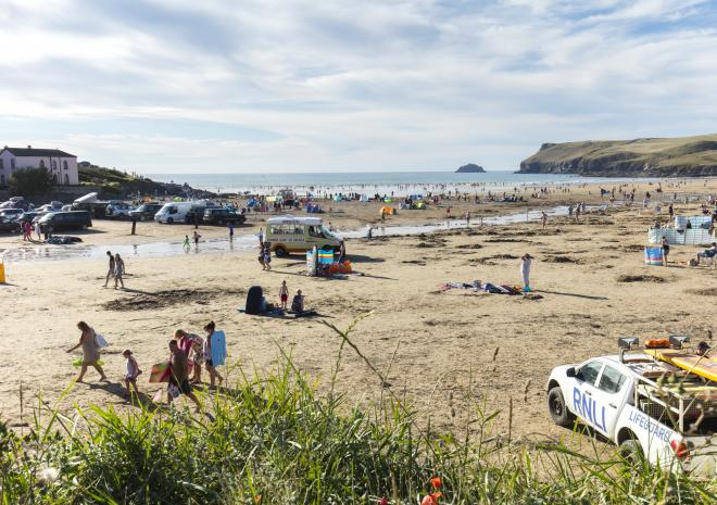 Polzeath Beach, Padstow, North Cornwall