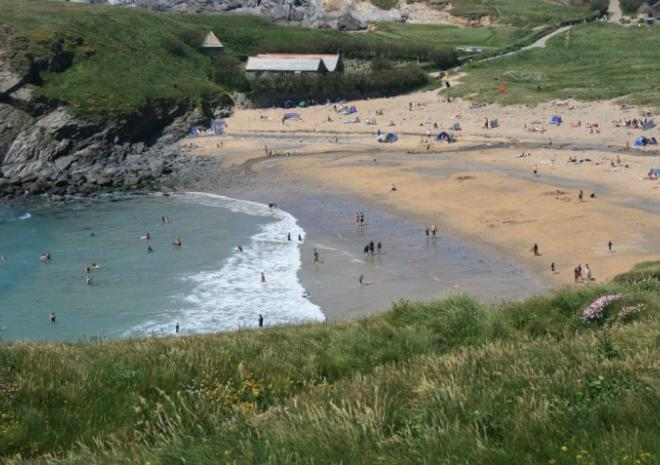 Gunwalloe Church Cove Beach, Helston, Cornwall c Jess Brown