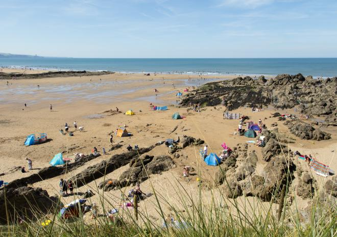 Crooklets Beach, Bude, North Cornwall, Beach,