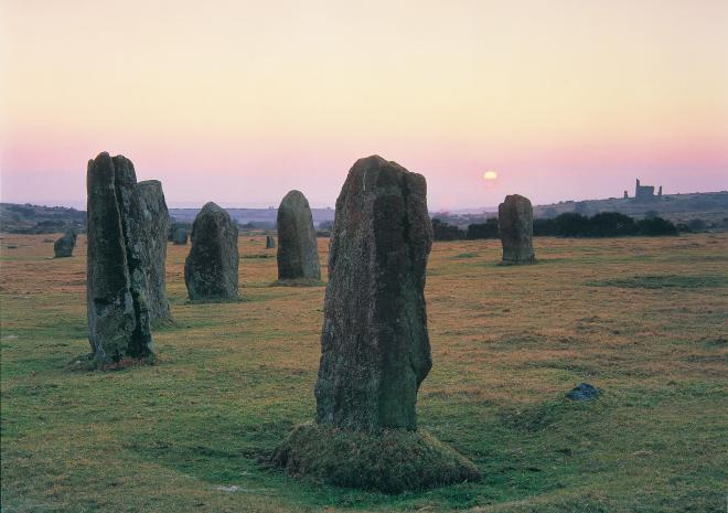 Hurlers Stone Circle at Sunset c Paul Watts/Visit Cornwall