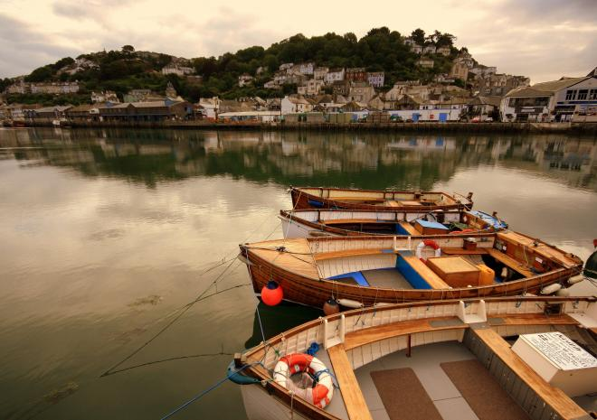 Looe Harbour in South East Cornwall