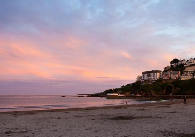 Sunset in Looe, South East Cornwall