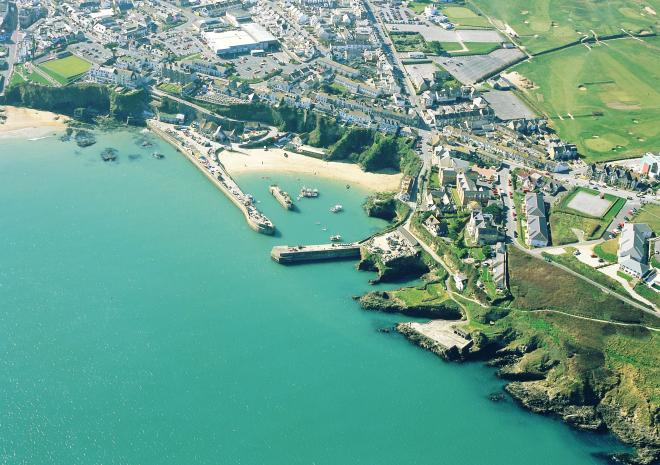 Aerial View Newquay, c John Such