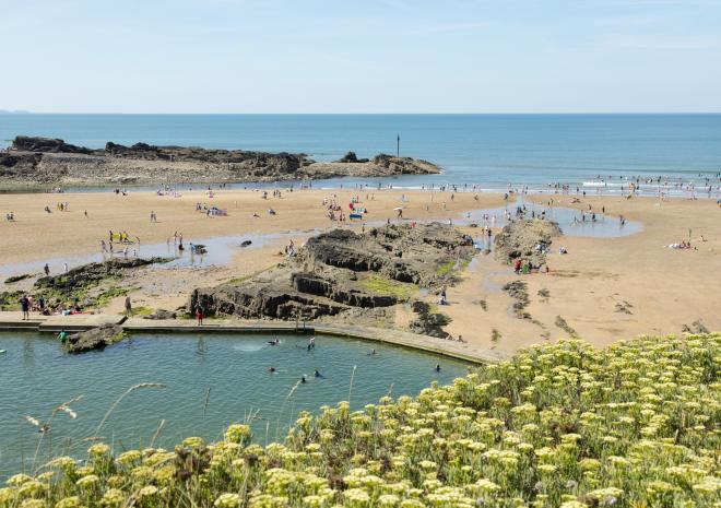 Northcott Beach, Bude, North Cornwall, Beach, Swimming, Pool