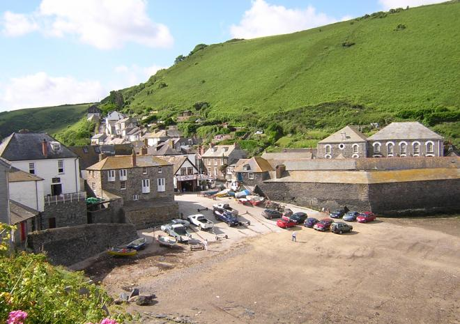Port Isaac Harbour in North Cornwall, CCL