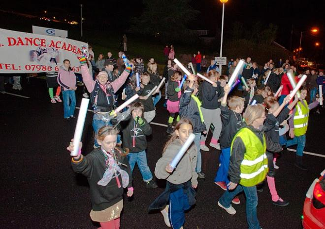 St Austell Torchlight Carnival, Cornwall