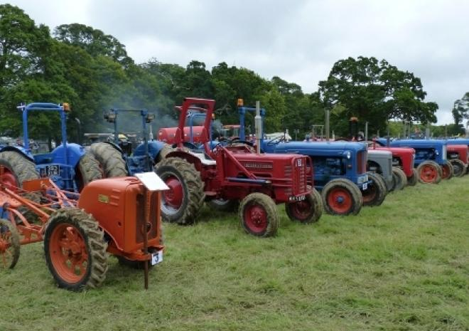 Tractors, Boconnoc Steam Fair, Lostwithiel, Cornwall