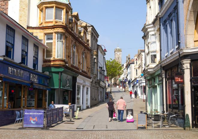 High Street, Redruth, West Cornwall