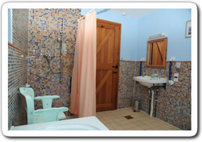 accessible bathroom at Cottages in Cornwall | Chark Country Holidays | Bodmin | Cornwall