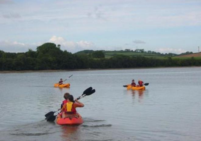 Kayaking on the River Fal