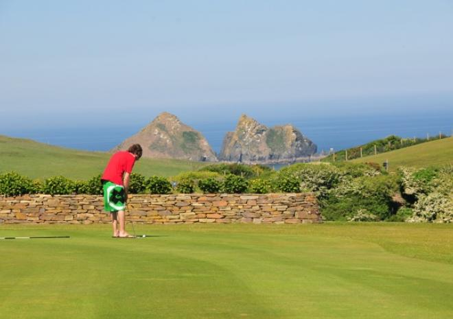Golf course in Cornwall   Holywell Bay   Newquay   Cornwall