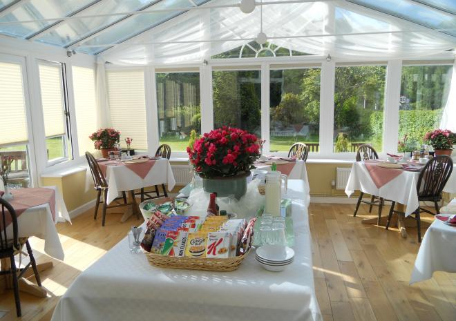 Breakfast Conservatory Polraen Country House Looe Cornwall