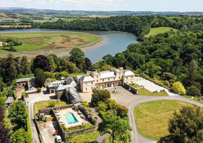 Aerial View of Pentillie Castle by Charlotte Dart
