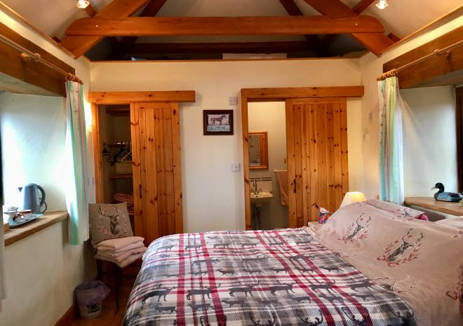 The Stable is great for couples and is available for one night stop over stays