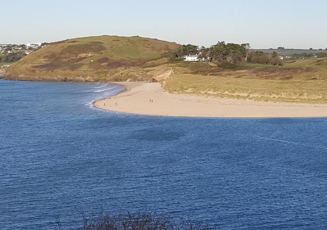 Bray Beach Camel Estuary across from Padstow