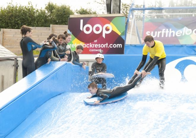 Things to do in Cornwall | Flowrider Surf Similator | Retallack Resort and Spa |