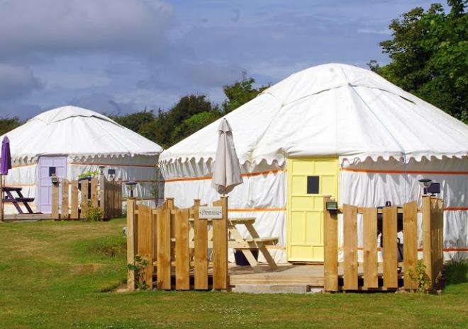 Luxury yurts glamping near Newquay and Perranporth