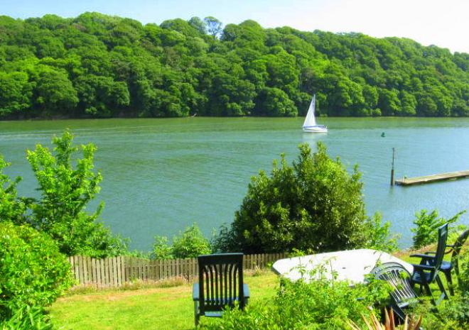 Cottages in Cornwall | Lanwithan Cottages | Malpas Riverside view|  Truro