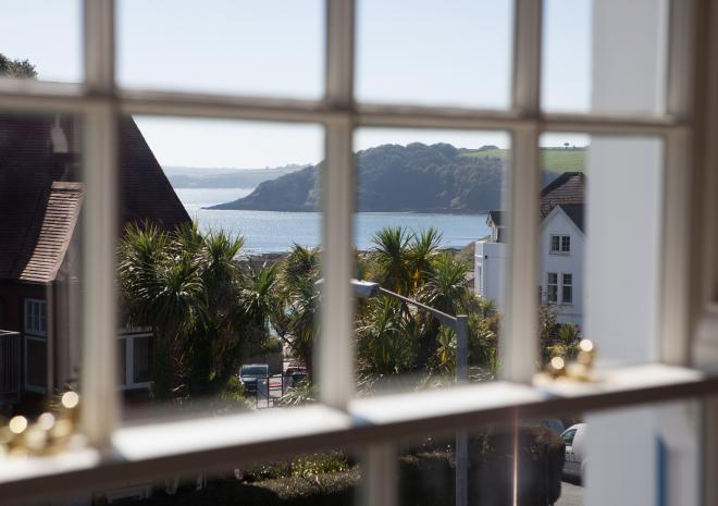 Stunning sea views from Oyster Catcher apartment on the first floor