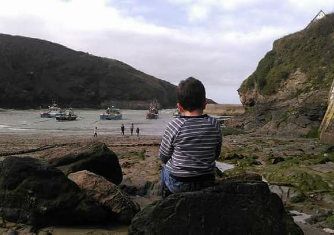 Watching the boats come in Port Isaac