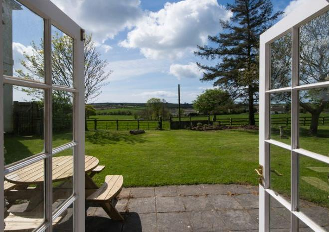 Amazing views towards Gerrans Bay from Pippin Cottage living room patio doors.