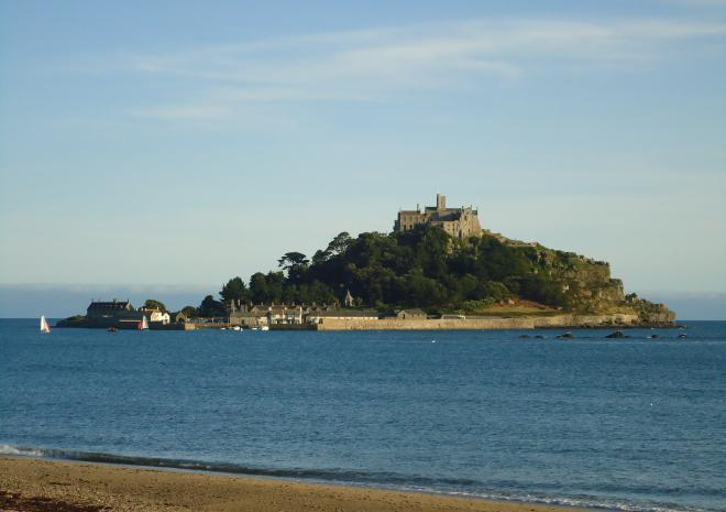 Close to the beach, st michaels mount, mounts bay caravan park, cornwall