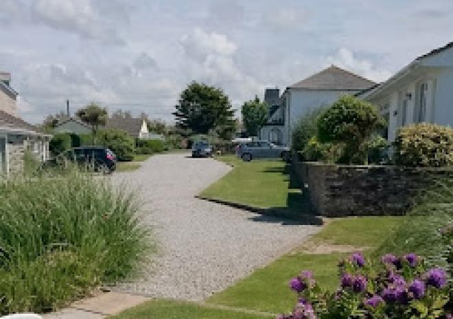 Yellow Sands Holiday Cottages driveway, Harlyn Bay, Padstow, Cornwall