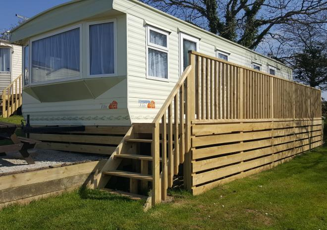 Decking on caravans