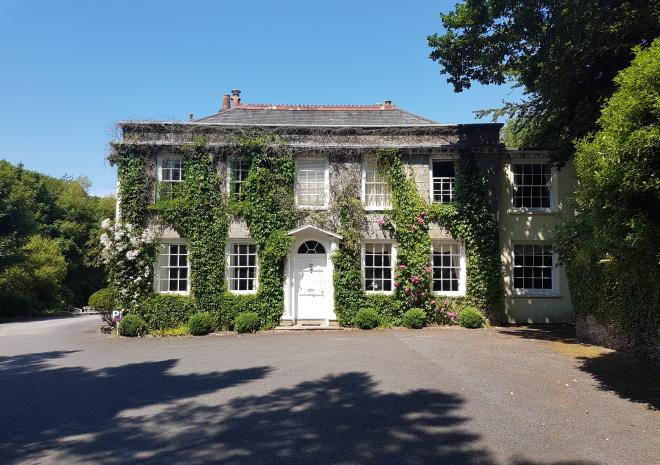 The Front of Rose in Vale Country House Hotel, St Agnes, Cornwall