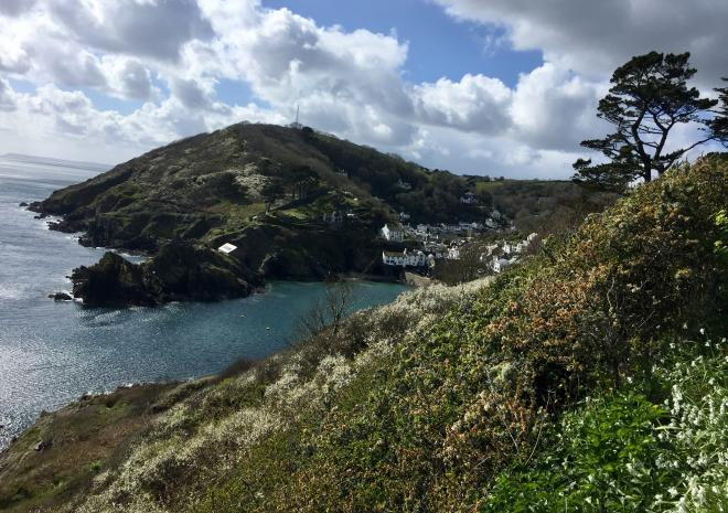 View of Polperro from the coast path