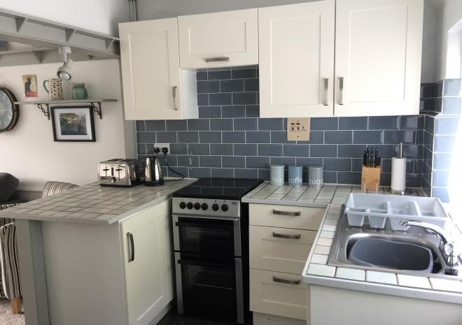Kitchen, The Ryder apartment, Polperro