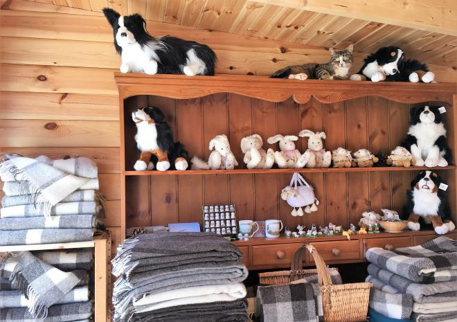 On site Shop for visitors selling our own woollen items