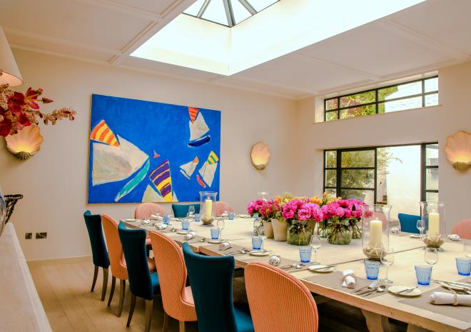 St Mawes Hotel, Private Dining, Courtyard Room, Events, St Mawes, The Roseland, South Cornwall