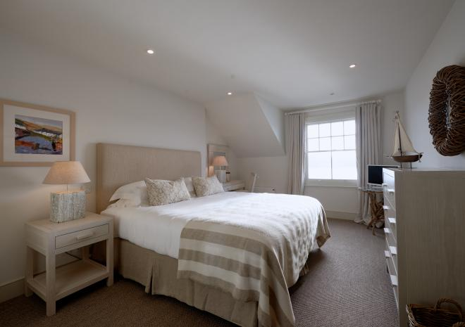 St Mawes Hotel, Boutique Hotel, Bedroom, St Mawes, The Roseland, South Cornwall
