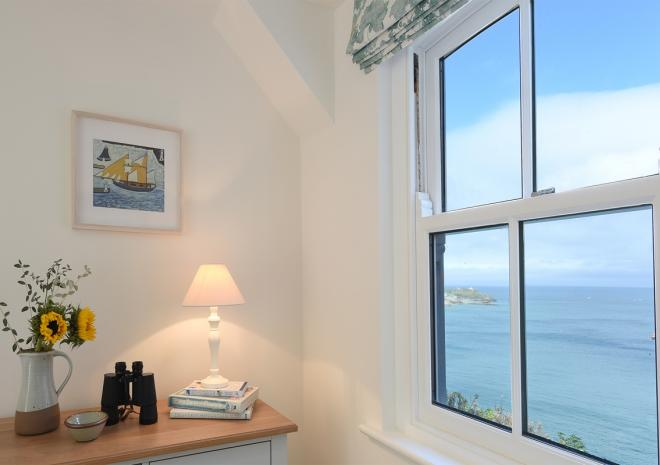 Chy an Carrack, luxury 4 bed house, bedroom view, St Ives