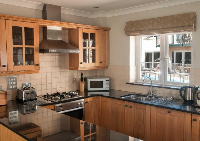 Kitchen view, Self Catering in Cornwall, Porth Veor Villas and Apartments, Newquay, Cornwall
