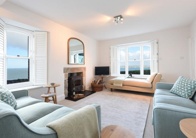 Chy an Carrack, luxury 4 bed house, Living Room, St Ives