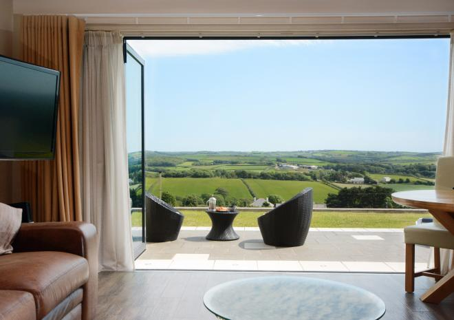 Milky Way open plan apartment near Bude for two at Wooldown Holiday Cottages