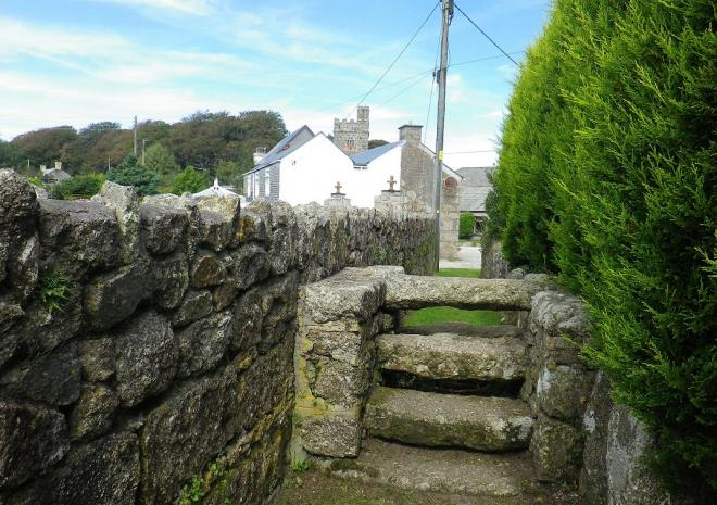 Saints Way, ancient stone stile