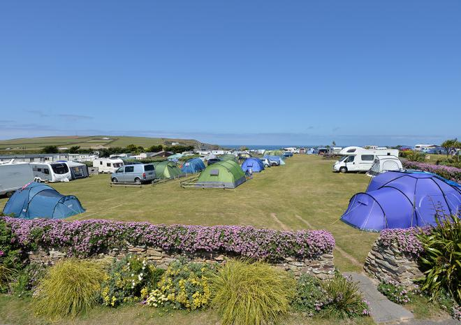 Holiday Park in Padstow Cornwall , Mother Iveys Bay , Padstow , Cornwall
