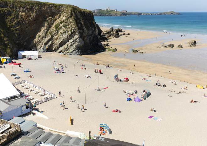 Lusty Glaze Beach, Newquay, North Cornwall