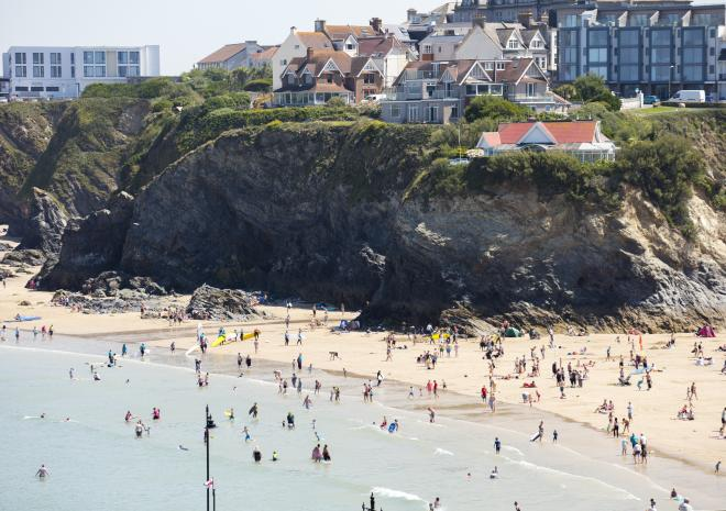Towan Beach, Newquay, North Cornwall