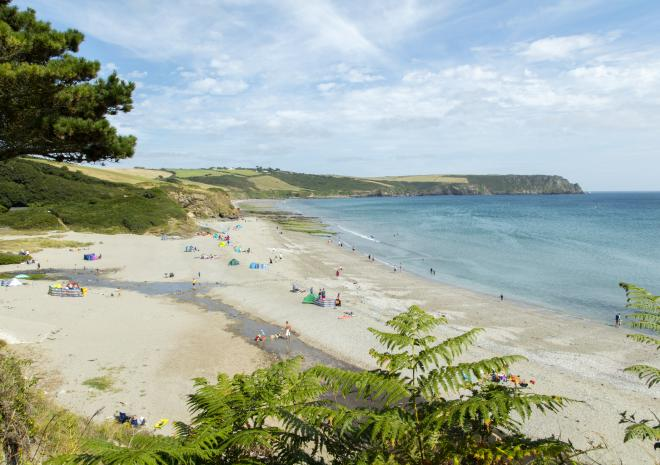 Pendower Beach, Roseland Peninsula, South Cornwall