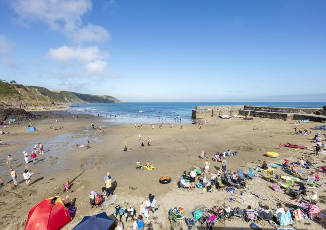 Gorran Haven Beach, St Austell, South Cornwall